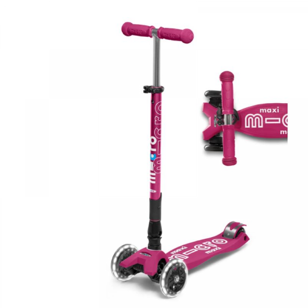 MAXI FOLDABLE LED CHILD SCOOTER- BERRY