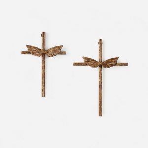 METAL CROSSES WITH WINGS