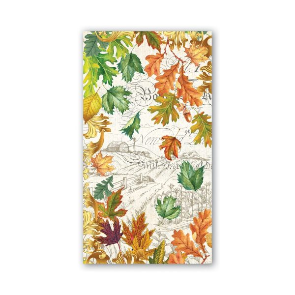 MICHEL DESIGN WORKS FALL HARVEST HOSTESS NAPKINS