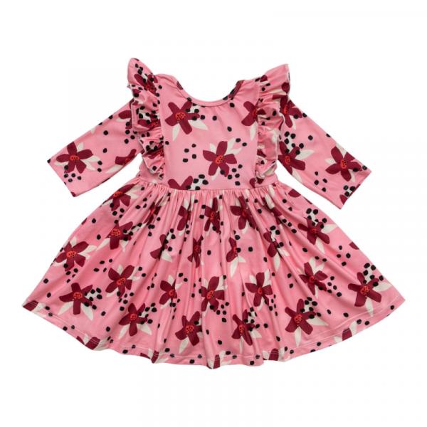 MILA & ROSE PINK PETALS RUFFLE TWIRL DRESS