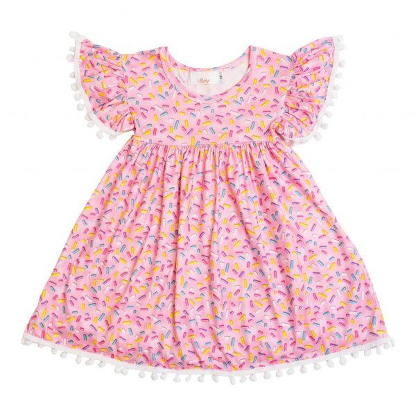 MILA & ROSE SPRINKLES POM POM DRESS