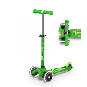 MINI DELUXE LED CHILD SCOOTER- GREEN