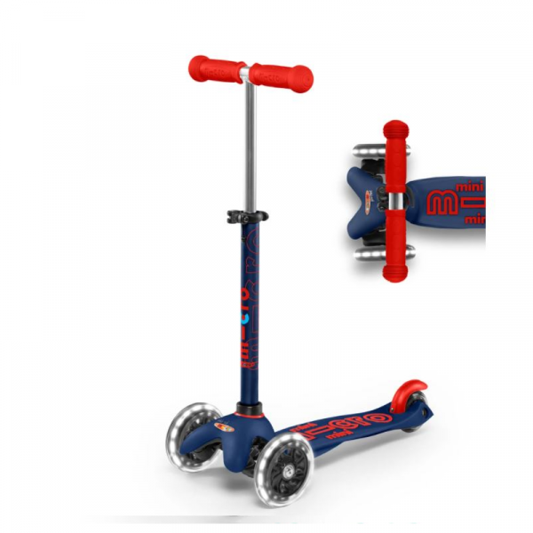MINI DELUXE LED CHILD SCOOTER- NAVY BLUE