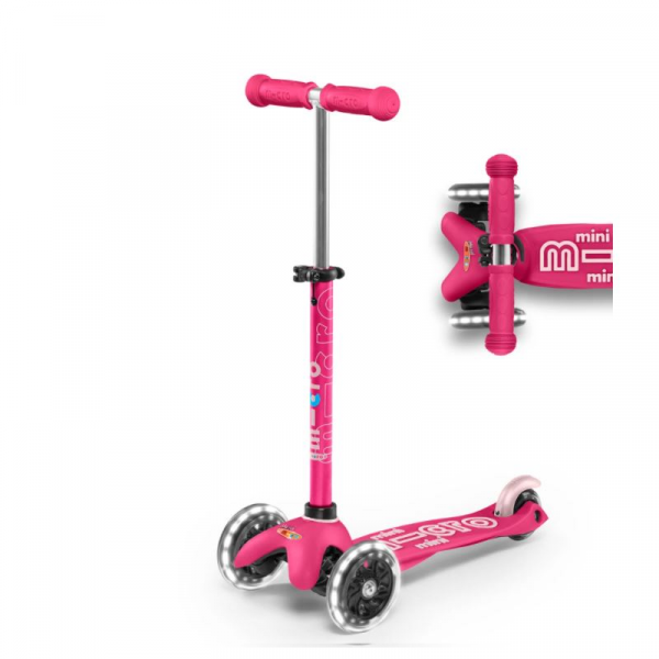 MINI DELUXE LED CHILD SCOOTER- PINK