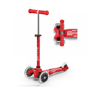 MINI DELUXE LED CHILD SCOOTER- RED