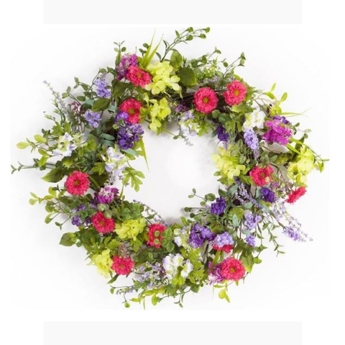 MIXED SPRING FLORAL WREATH