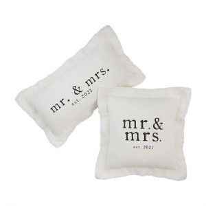 MR. & MRS. SQUARE PILLOW