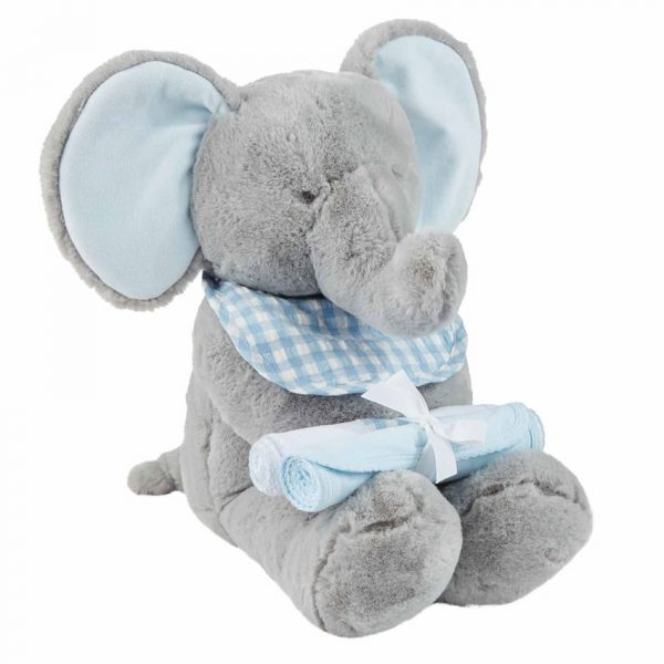 MUDPIE BLUE ELEPHANT GIFT SET