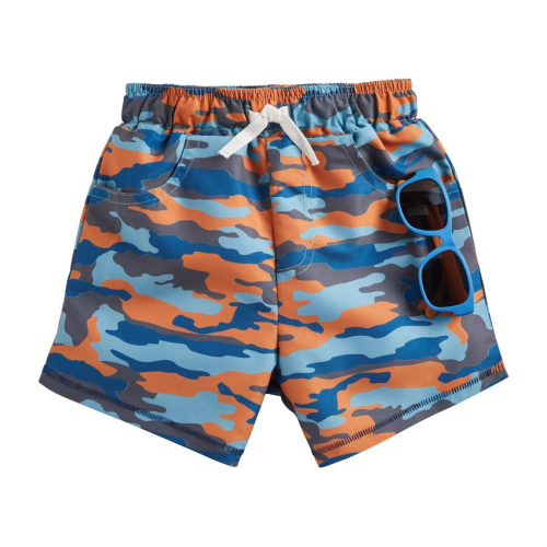 MUDPIE CAMO SWIM TRUNKS WITH SUNGLASSES