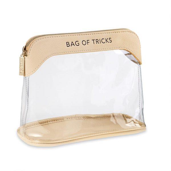 MUDPIE CLEAR MAKEUP BAG IN NUDE