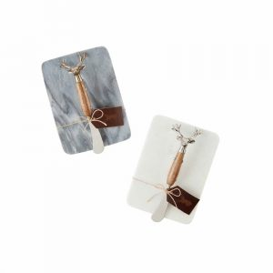 MUDPIE DEER MARBLE BOARD AND SPREADER SET