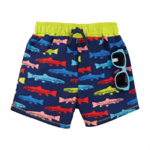 MUDPIE FISH SWIM TRUNKS WITH SUNGLASSES