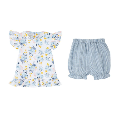 MUDPIE FLORAL SHIRT SHORT SET
