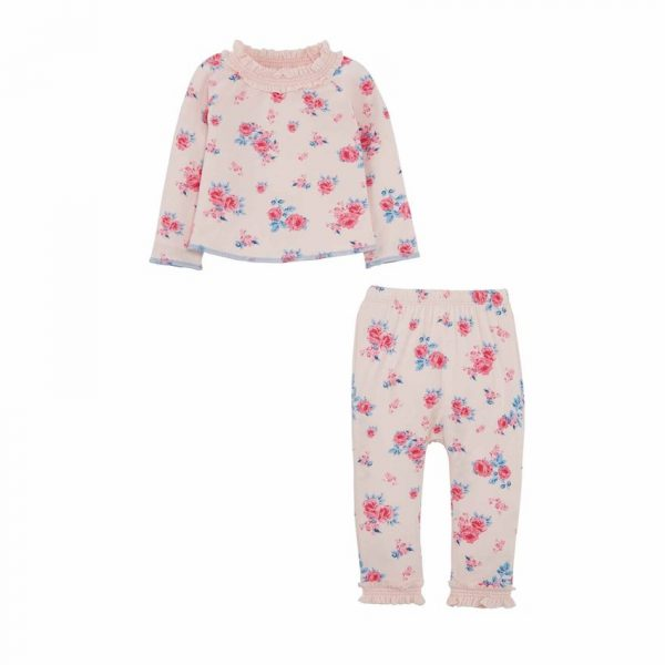 MUDPIE PINK FLORAL TWO PIECE SET