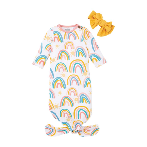 MUDPIE RAINBOW GOWN TAKE-ME-HOME SET