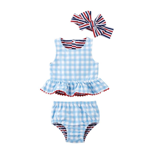 MUDPIE REVERSIBLE SWIMSUIT AND HEADBAND
