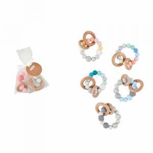 MUDPIE SILICONE AND WOOD TEETHERS