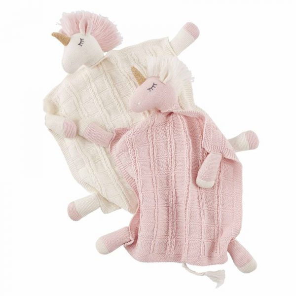 MUDPIE SWEATER KNIT UNICORN LOVEYS