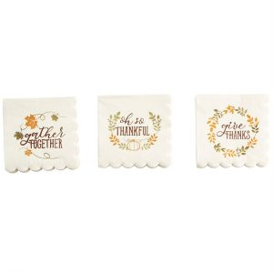 MUDPIE THANKFUL PAPER NAPKINS