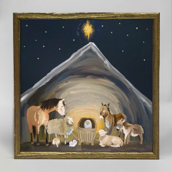 NATIVITY MANGER BOX ART 6X6