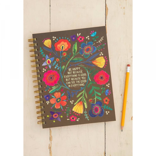 NATURAL LIFE BE HAPPY BECAUSE SPIRAL NOTEBOOK