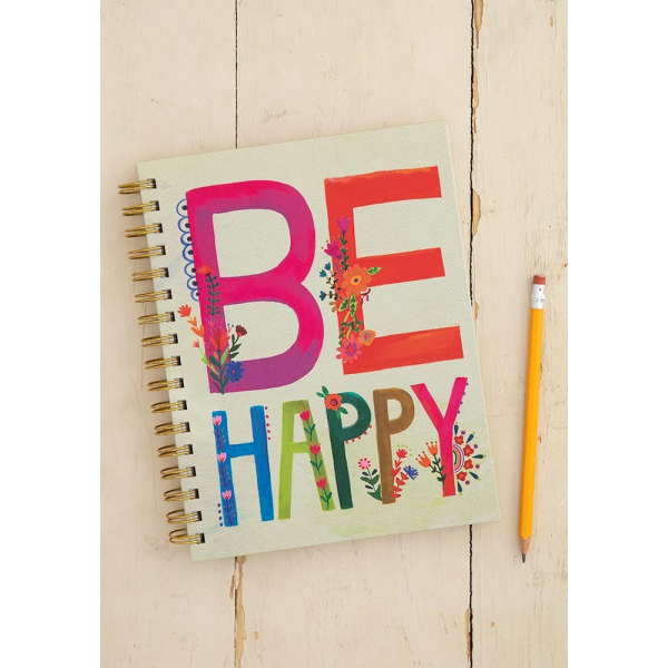 NATURAL LIFE BE HAPPY SPIRAL NOTEBOOK