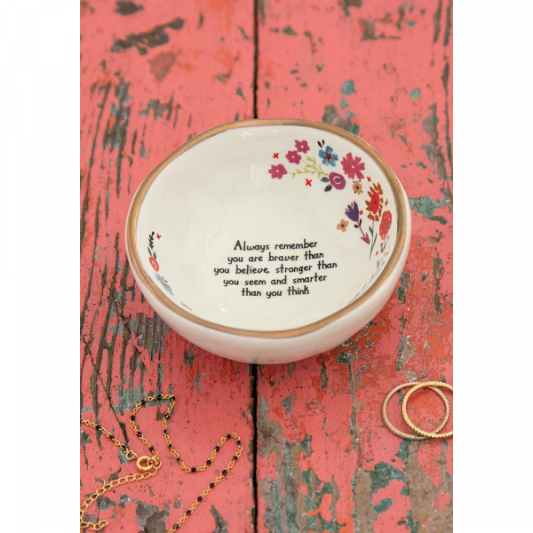 NATURAL LIFE BRAVER THAN YOU BELIEVE GIVING TRINKET BOWL