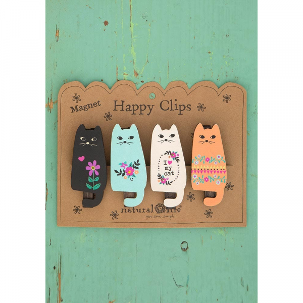 NATURAL LIFE CAT MAGNET HAPPY CLIPS