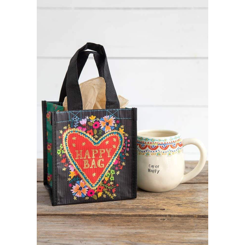 NATURAL LIFE GIFT BAG FLORAL HEART SMALL