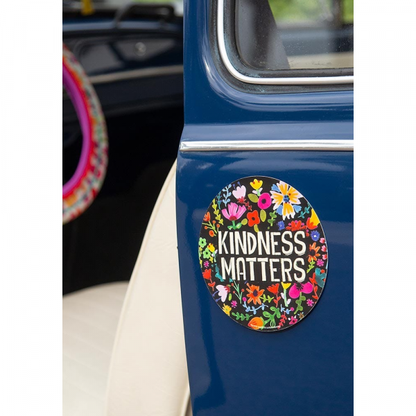 NATURAL LIFE KINDNESS MATTERS CAR MAGNET