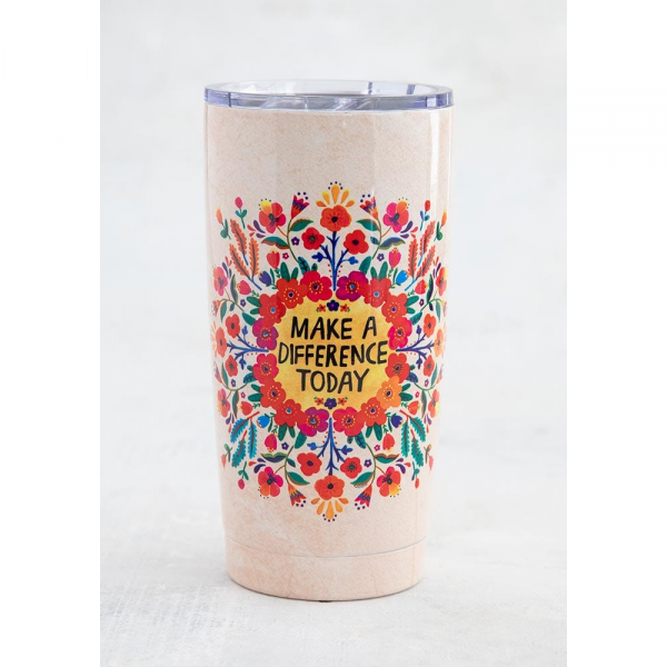NATURAL LIFE MAKE A DIFFERENCE TODAY TUMBLER