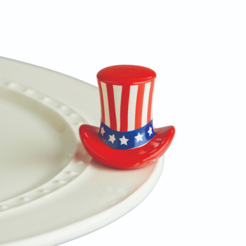 NORA FLEMING MINI HOME OF THE FREE UNCLE SAM HAT