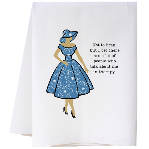NOT TO BRAG FLOUR SACK TOWEL