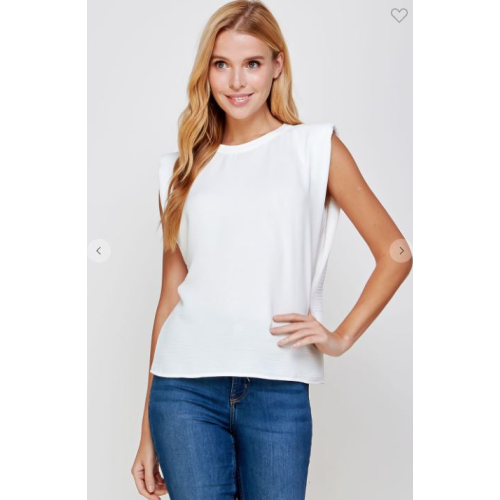 OFF WHITE MUSCLE CRINKLE TOP