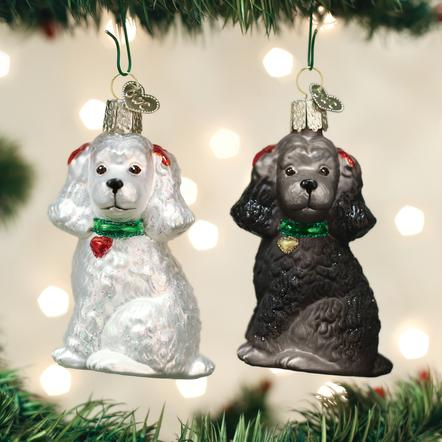 OLD WORLD CHRISTMAS ASSORTED POODLE ORNAMENT