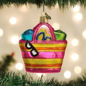 OLD WORLD CHRISTMAS BEACH BAG ORNAMENT