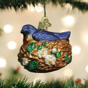 OLD WORLD CHRISTMAS BIRD IN NEST ORNAMENT
