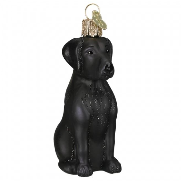 OLD WORLD CHRISTMAS BLACK LABRADOR ORNAMENT