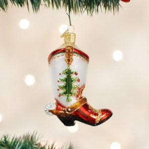 OLD WORLD CHRISTMAS COWBOY BOOT ORNAMENT