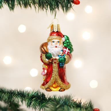 OLD WORLD CHRISTMAS FATHER CHRISTMAS WITH GIFTS ORNAMENT