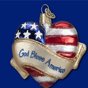 OLD WORLD CHRISTMAS GOD BLESS AMERICA ORNAMENT