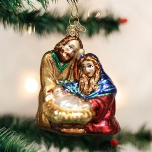OLD WORLD CHRISTMAS HOLY FAMILY ORNAMENT