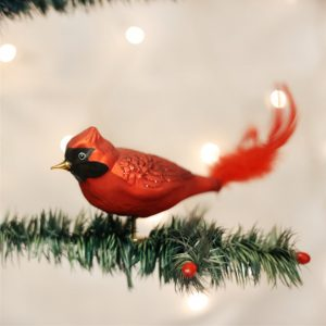 OLD WORLD CHRISTMAS LARGE RED CARDINAL ORNAMENT