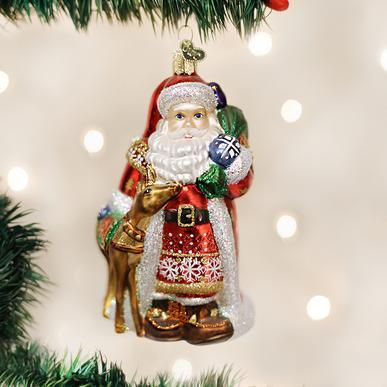 OLD WORLD CHRISTMAS NORDIC SANTA ORNAMENT