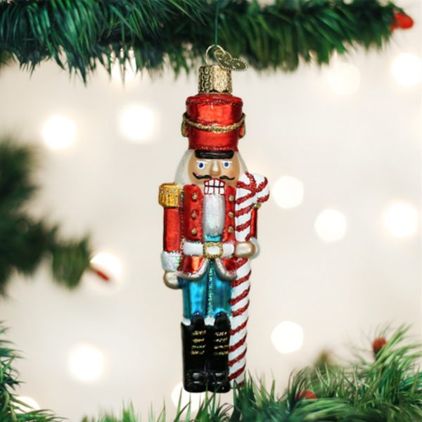 OLD WORLD CHRISTMAS PEPPERMINT NUTCRACKER ORNAMENT