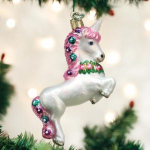 OLD WORLD CHRISTMAS PRANCING UNICORN ORNAMENT