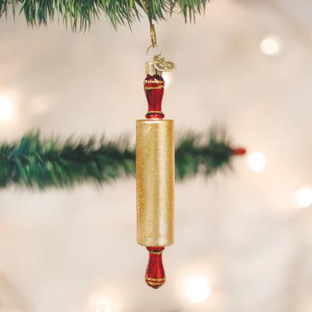 OLD WORLD CHRISTMAS ROLLING PIN ORNAMENT