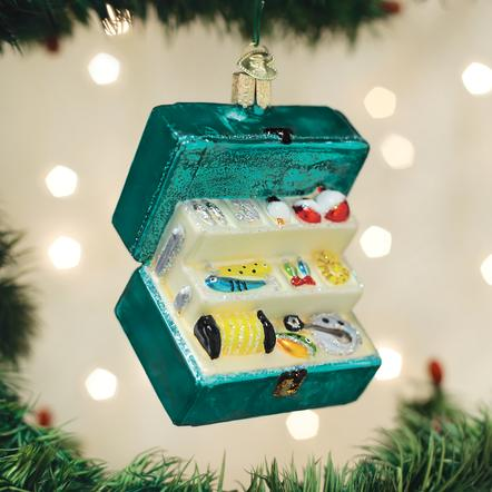 OLD WORLD CHRISTMAS TACKLE BOX ORNAMENT