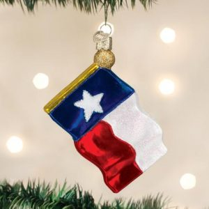 OLD WORLD CHRISTMAS TEXAS STATE FLAG ORNAMENT