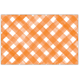 ORANGE AND WHITE PLACEMAT